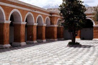 Courtyard at Santa Catalina monastery.
