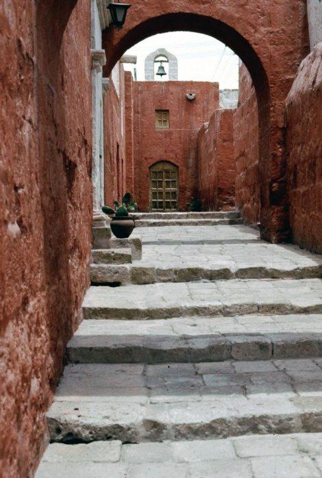 A monastery street at Santa Catalina.