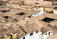 The tile roofs of Cuzco.