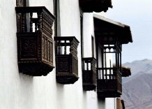 Some of the balconies of Cuzco.