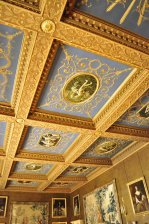 In one of the reception rooms at Chirk Castle, near Wrexham, North Wales
