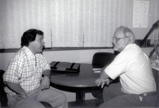 Bob with Gonzalo Zorilla of the Uruguayan rice program.