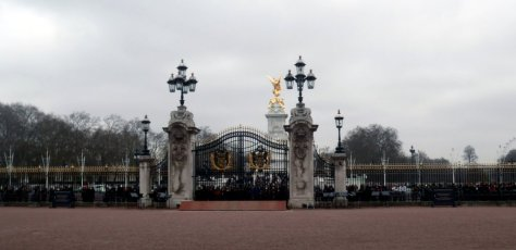 The gates of Buckingham Palace - from inside.