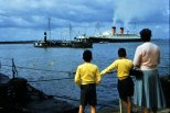 The RMS Queen Elizabeth.