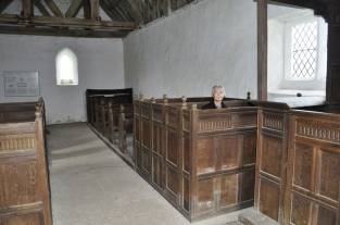 One of the box pews.