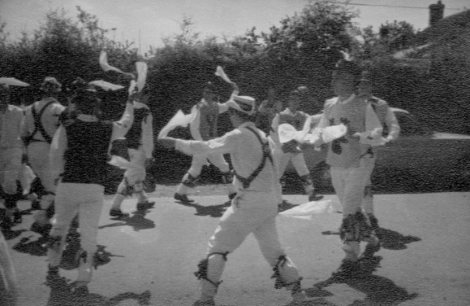 The farewell dance: Bonny Green Garters from Bampton. That's me, centre rear, looking over my right shoulder.