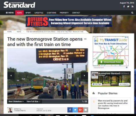 Bromsgrove station opens