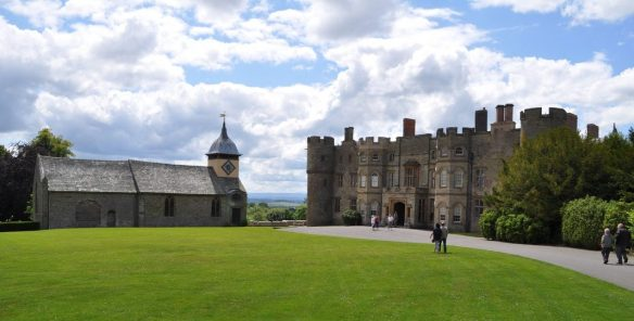 cba8b4a7a3 The main entrance of Croft Castle, and the Church of St Michael