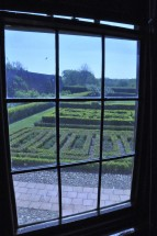The knot garden from the Oratory.