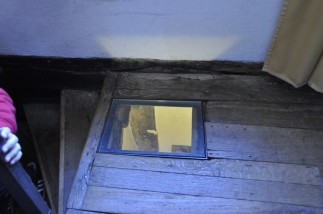The priest's hole in the attic where Charles II hid for one night.