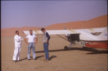 John (nearest plane) on Empty Quarter survey