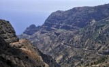 Precipitous roads in north Tenerife