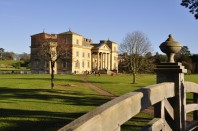 The south facade of Croome Court from the Chinese Bridge