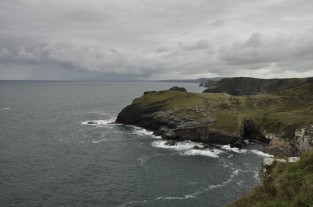 Looking north from Tintagel Castle