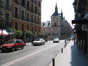 Calle Mayor and PLaza Mayor in the distance