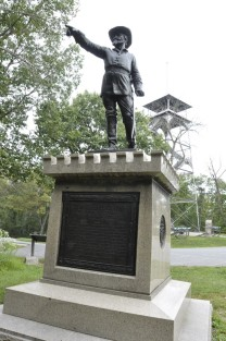 Statue of Union Brevet Maj. General George Sears Greene who defended Culps Hill