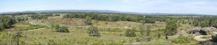 View west from the top of Little Round Top