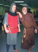 Guy Kirk (Sir Guy of Gisbourne) and Bob Zeigler (Friar Tuck)