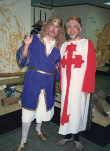 MIke Jackson (Prince John) and John Bennett (King Richard)