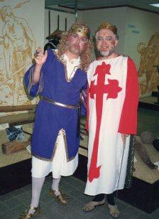 MIke Jackson (Prince John) and John Bennett (King Richard)