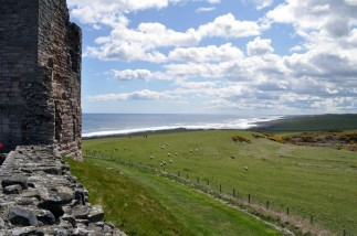 The view towards Craster from the Great Gatehouse