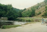 Looking north along Dovedale from the Stepping Stones