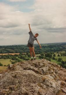Philippa on the summit of Thorpe Cloud