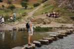 Steph on the Stepping Stones