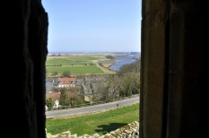 The Coquet estuary from Warkworth Castle