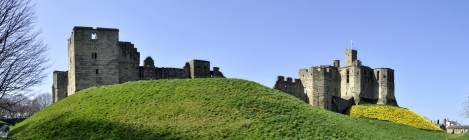 Warkworth Castle in April