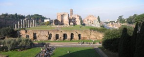 The Forum from the Colosseum in Rome