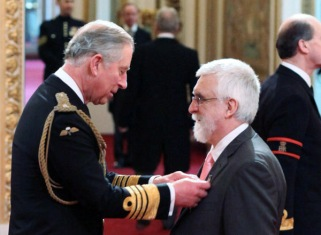 Receiving my OBE from HRH The Prince of Wales on 14 February 2012