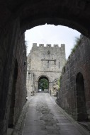 Approaching the gatehouse