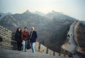 With my colleague, Bao-Rong Lu (middle) on the Great Wall, north of Beijing